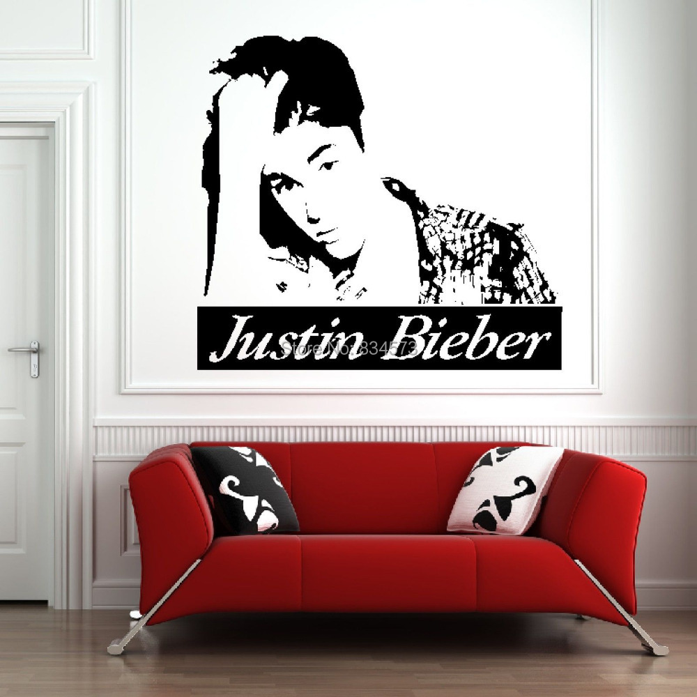 Baby Bedroom Decor Justin Bieber Bedroom Wallpaper Bedroom Design Bed Bedroom Design Modern Classic: Aliexpress.com : Buy Mad World Celebrity Silhouette Music
