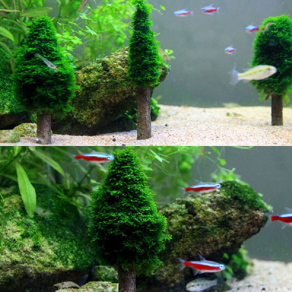 aquarium artificial xmas moss christmas tree fish tank simulation