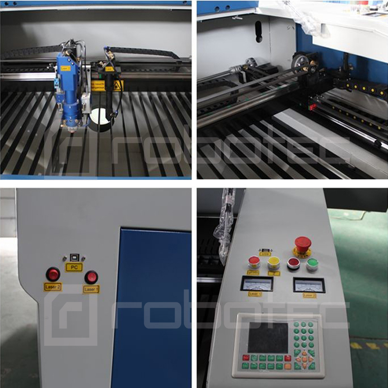 Dual Heads Metal Laser Engraving Cutting Machine 1390 Co2 Laser Cutter Engraver For Metal And Non-metal