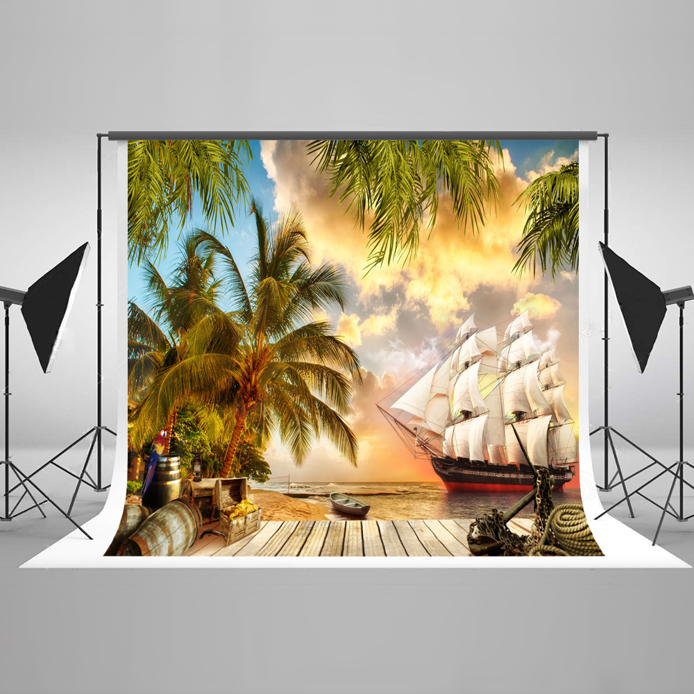 Kate 10ft Oil Painting Photo Background Photography Backdrop Palm Tree Backgrounds For Photo Studio Cotton Washable Backdrop kate 10ft photo background naturism children photos flores wedding backdrops oil painting garden backdrop kids blue sea backdrop