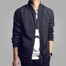 2018 Autumn New Fashion Bomber Jacket Men Casual Slim S Overcoat Windbreaker Jaqueta Masculina