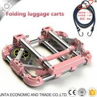 Auto Accessories Folding Luggage Carts Car Trolleys Wheelbarrow Oxidation Resisting Steel Material Easy To Storage