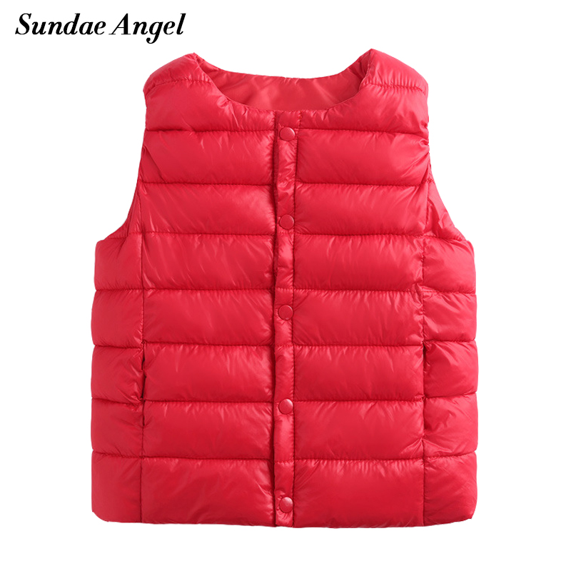 Sundae Angel Kids vests Sleeveless O Neck Winter Autumn font b Baby b font Girls Boy