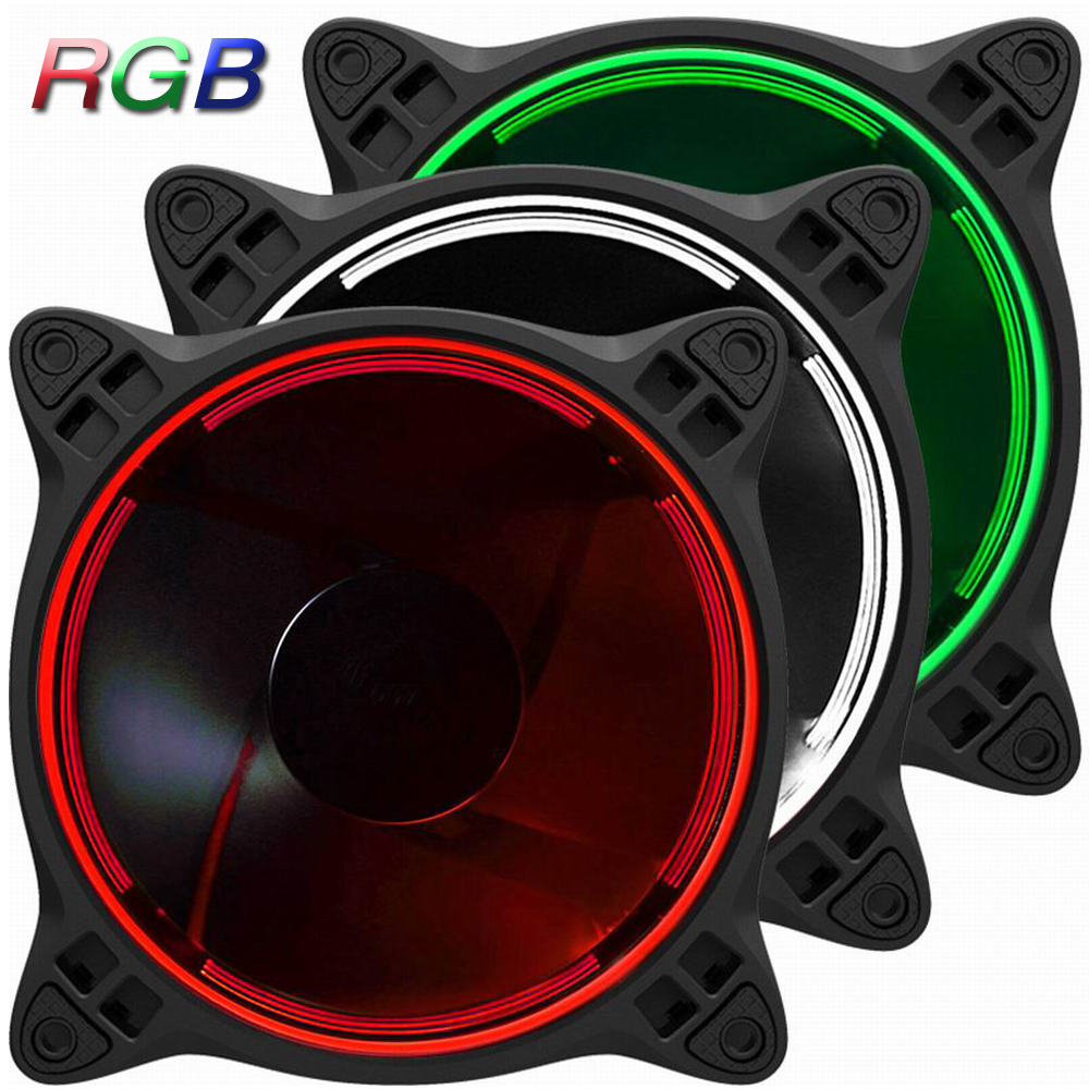3 PCS Jonsbo FR-331 120mm PC Case Fan CPU Cooler Radiators Colorful RGB 256 LED Light 6 Pin SATA for Intel AMD DIY Computer 1 piece jonsbo fr 201p 120mm pc case cooler cpu fan radiators computer cooling fan led light 4pin pwm for intel amd diy mod