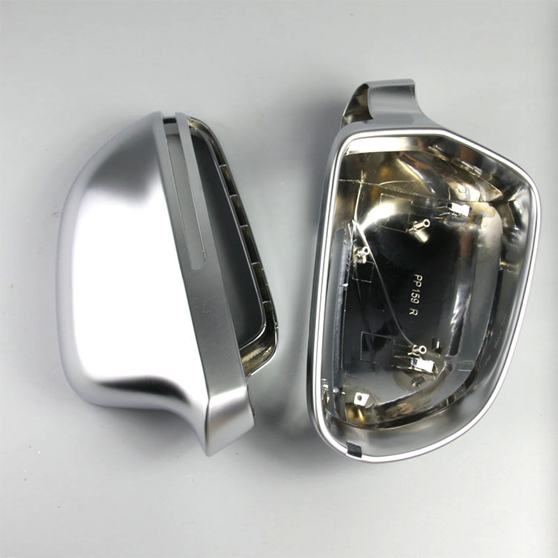 ABS Matt Chromed Side Door Mirror Wing Mirror Cover Replacement Car Accessories For A4 B8 8K A5 8T A6 4F C6 A8 D3 4E Q3 8U nitro triple chrome plated abs mirror 4 door handle cover combo