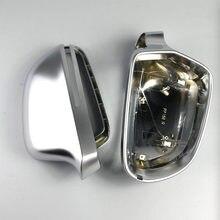 ABS chromowane Matt drzwi boczne lusterka zewnêtrzne lustro pokrywa wymiana akcesoria samochodowe dla A4 B8 8 K A5 8 T a6 4F C6 A8 D3 4E Q3 8U