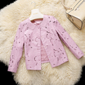 Leather suede sheepskin coat women spring autumn genuine leather pink coat single leather jacket hollow out New Phoenix