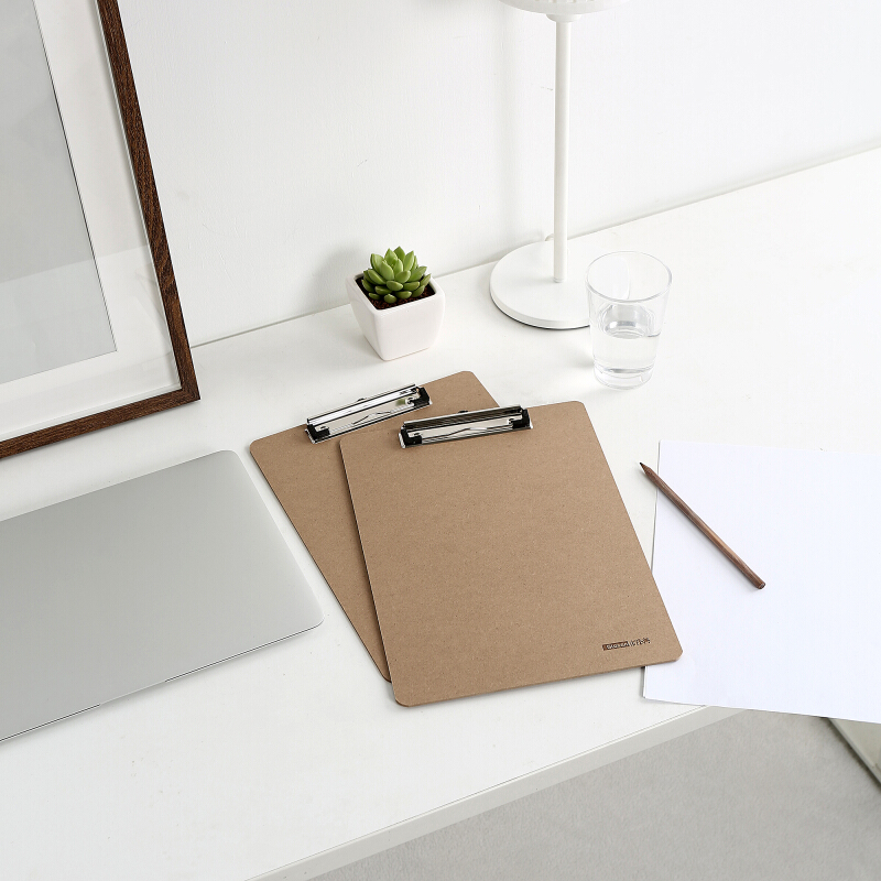 Image 5 - Glosen A4 Wooden Desk Card Notebook Papers Writing File Mat Drawing Folder Butterf Clip Board Clipboard School Office Supplies-in Clipboard from Office & School Supplies