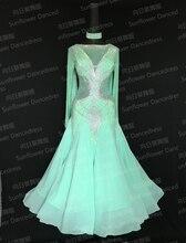 New Competition ballroom Standard dance dress,dance clothing,stage wear,women dance wear,Ballroom Dance Dress,mint green