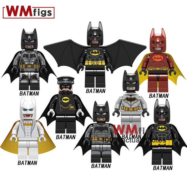 Single Legoings Batman Knightmare Red Son Leopard Batman Robin Punisher Iron Man Figures Brick Building Blocks Toys for Children