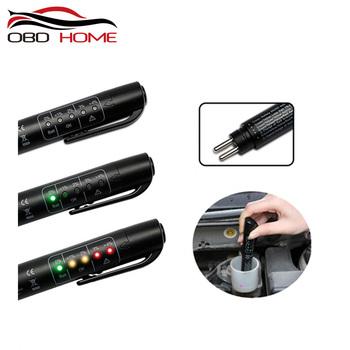 OBD2 dokładny olej jakości sprawdź pióro 5 led hamulec tester płynów samochód cyfrowy tester cieczy hamulcowej dla pojazdu Auto narzędzie do testowania samochodów tanie i dobre opinie DFUTRCNIC DC Brake Fluid Tester 5inch 10inch plastic Testery elektryczne i przewody pomiarowe 0 1kg 8inch