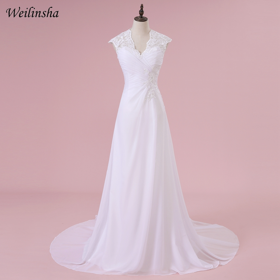 Hot Sale Plus Size Wedding Ball Gown 2019 Fashionable Applique V-neck Beaded Bridal Dresses Custom Make