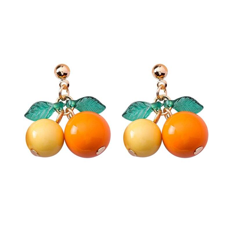 hot red Cherry earrings eardrop Sweet fruit fresh cherry eardrop female fashion youth beautiful girl students earrings for women 13