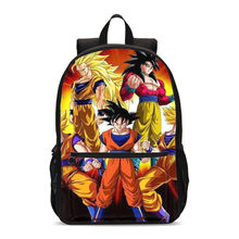 Backpacks For Boys Girls Anime Dragon Ball Super Saiyan 3D Printing Bookbag School Bags Teenage Children Satchel Mochila Escolar(China)
