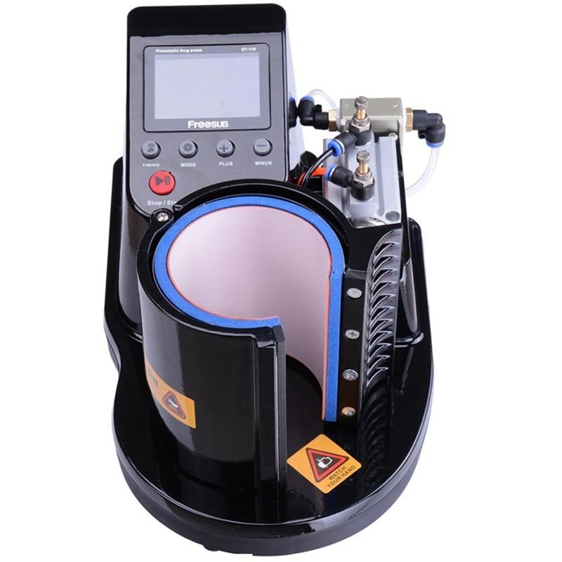 2pcs/lot ST-110 Pneumatic Mug Press Machine 2D Digital Thermal Mug Printing Machine Heat Press Machine Mug Printer цена 2017