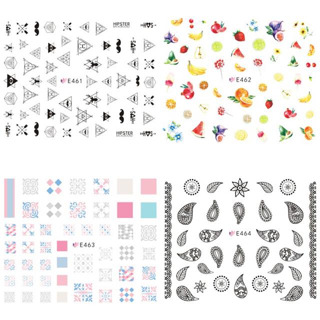 Cartoon Letter Words 3D Nail Sticker