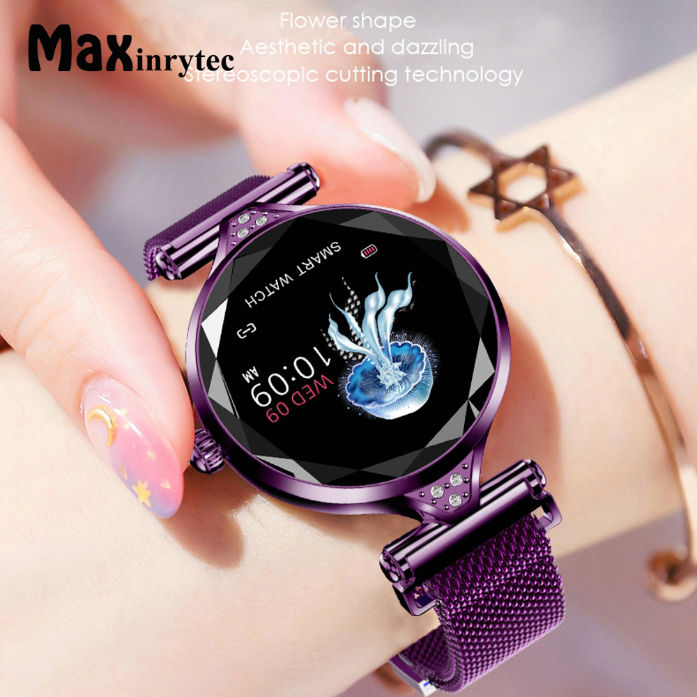 Maxinrytec 2019 Luxury Smart Watch Women Sport IP67 Waterproof Bluetooth For Android IOS Iphone Smartwatch Gift