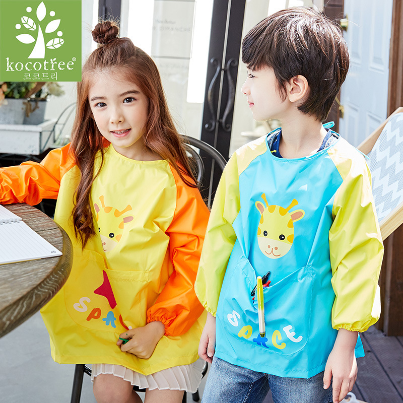 Children font b Baby b font Waterproof Long Sleeve Art Smock Apron Eating Smock for Painting