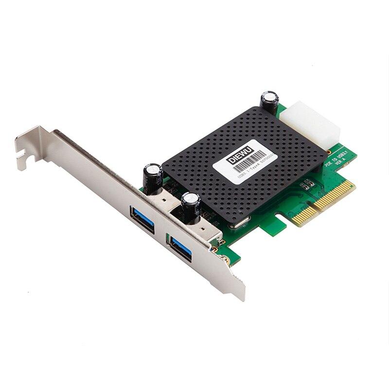 Carte contrôleur USB 3.1 type-a PCI-e bureau PCI Express x4 à USB3.1 adaptateur prise en charge PCIe x8 x16 slot