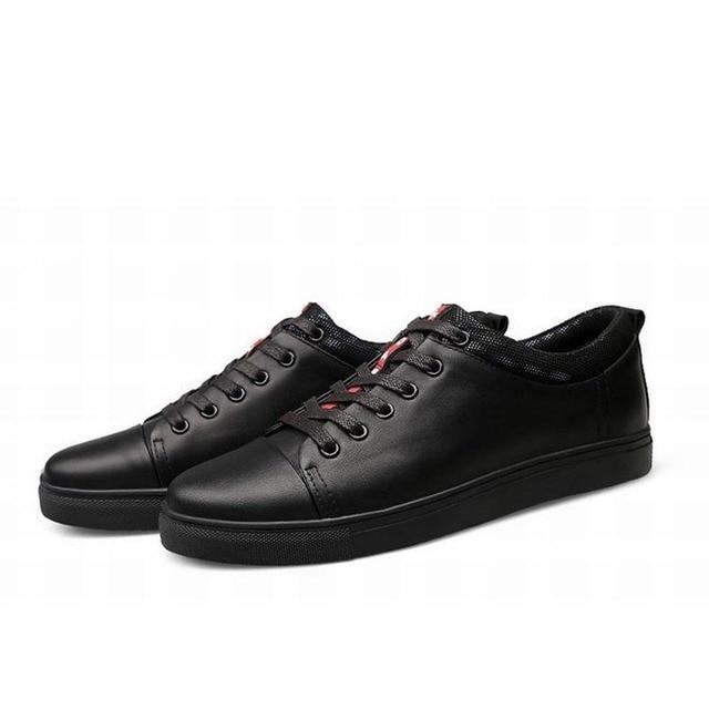 Los Zapatos Del Plataforma De Genuino Planos Hombres Cuero PZukiX