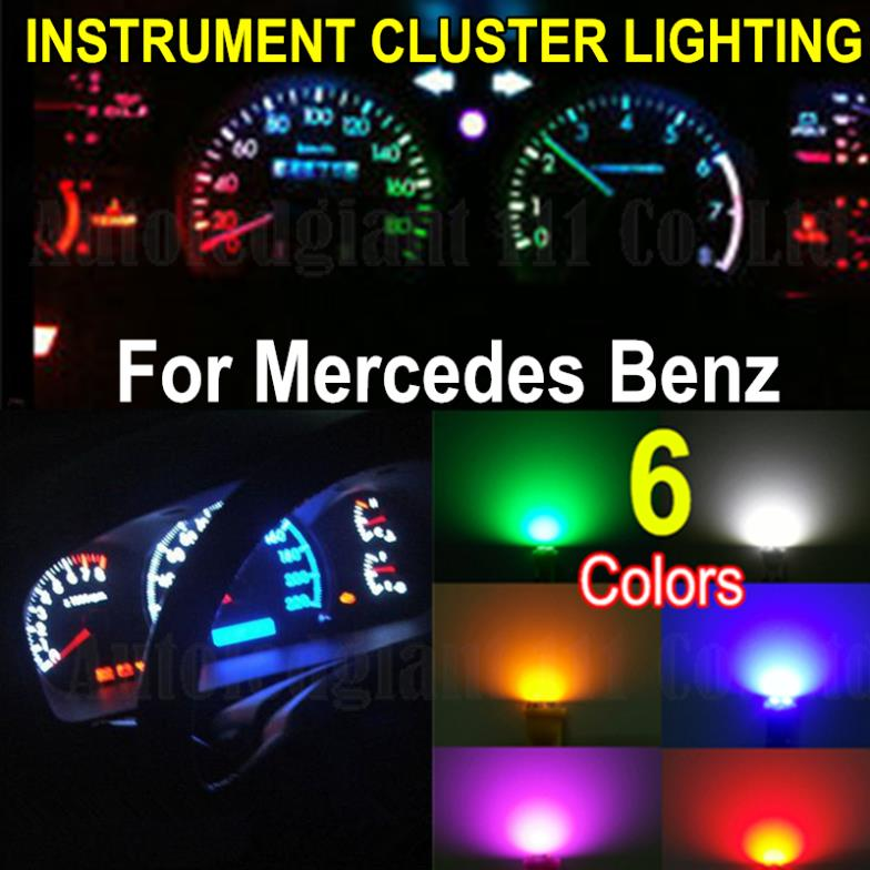 10X Wedge Base Led White Blue Red Green Yellow Pink Instrument Cluster  Lighting For Mercedes 355 Vehicle Variants 1989 2005 In Car Headlight  Bulbs(LED) From ...