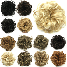 1Pc Kinky Curly Chignon 13 Colors Brazilian Hair Bundles Synthetic Women 10cm Elastic Hairpiece Donunt Buns Free Shipping