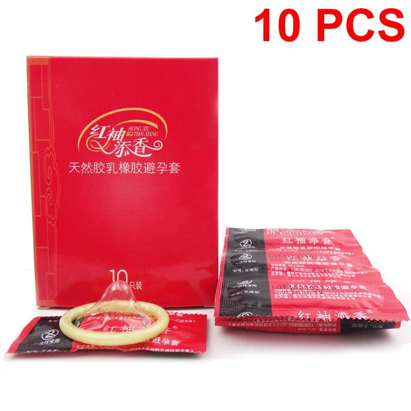 10Pcs Ultra Thin Large Oil Quantity Super Toughnes Latex Condoms Sex Tool Products For Men Adult Sex Products Dicks Condones