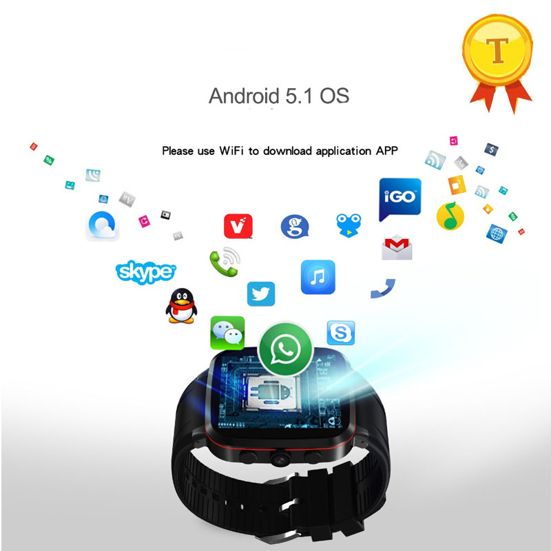 R$ 533 34  Original 3G gps SmartWatch relógio de pulso apoio Android 5 1  whatsapp facebook twitter download app para ios apple iphone android em