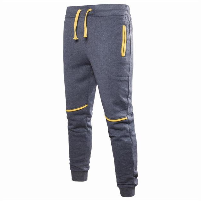 2018 mode Pantalon Hommes Zipper Poches Solide Couleur pantalons hommes  Occasionnels Pantalon Hommes Vêtements Joggers Pantalon ac8c9688f3a