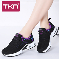 530561514 TKN 2019 Spring Women Flat Platform Sneakers For Women Light Mesh Black  Sneakers Shoes Tenis Feminino