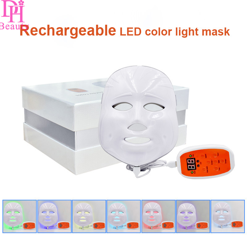 Newest LED Facial Mask Rechargeable 3/7 Color LED Photon Facial Mask Wrinkle Acne Removal Face Skin Rejuvenation Facial Massage Newest LED Facial Mask Rechargeable 3/7 Color LED Photon Facial Mask Wrinkle Acne Removal Face Skin Rejuvenation Facial Massage