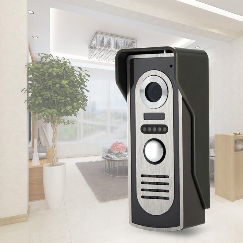 Vidéo Porte Téléphone Système D'interphone Vidéo Sonnette Caméra Extérieure Avec IR de Vision Nocturne Pour Porte de Contrôle D'accès System-M2 Sur Vente