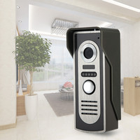 Free Shipping Color Video Door Phone Outdoor Unit IR Camera With Night Vision Video DoorBell Interphone