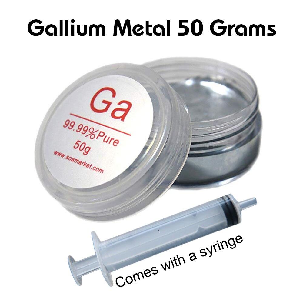 Metal gálio 50 Gramas de metal líquido 99.99% puro Vem Com Seringa Livre