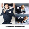 Newborns baby Winter Strollers Bed Swaddle Blanket Wrap sleeping bag cute Bedding baby product Cartoon shark sleeping bag