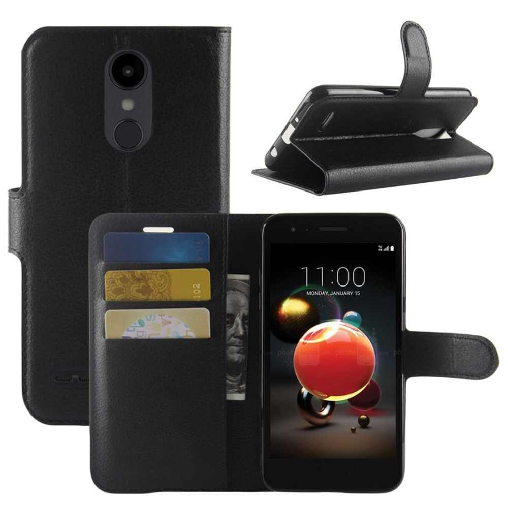 For LG Aristo 2 Fundas Coque Flip PU Leather Case Cover Stand Card Slots  Wallet Cell Phone Case for LG Aristo 2