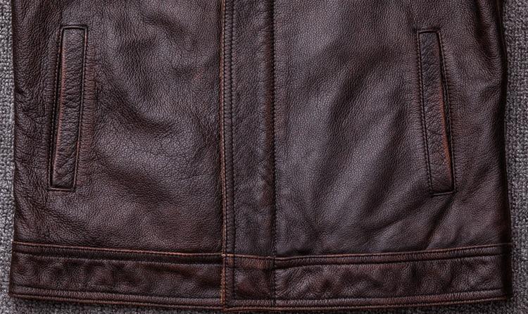 HTB1yAKAFL1TBuNjy0Fjq6yjyXXah MAPLESTEED Brand Vintage Leather Jacket Men 100% Cowhide Red Brown Black Natural Leather Jackets Men's Leather Coat Autumn M174