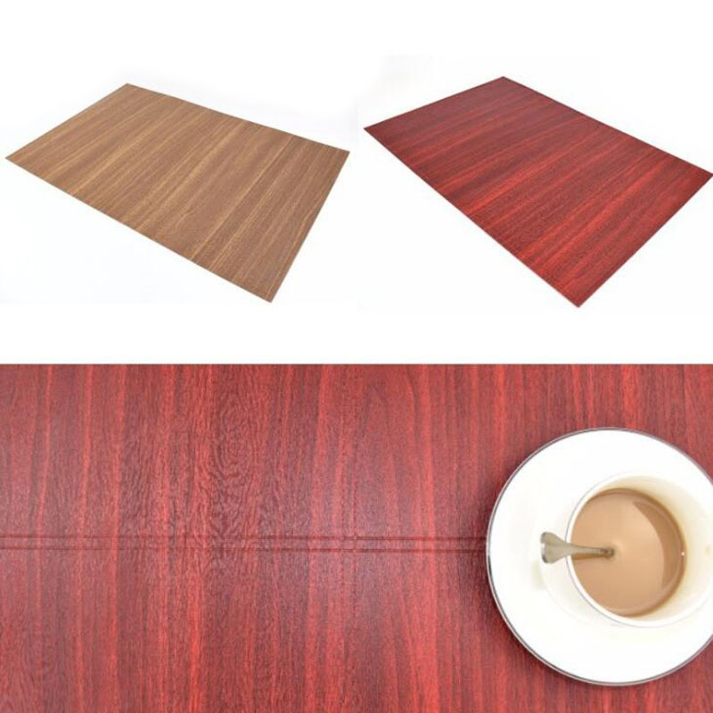 50pcs Creative Wood Grain Table Mat Tree Dining Tables Place Pad Tableware Restaurant Decor Catering Accessories ZA6096