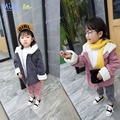 Winter Children's Clothing Girl Outerwear Coats Jackets Coats Winter Jacket Cotton Clothing Kids Faux Fur Coats Corduroy Coat