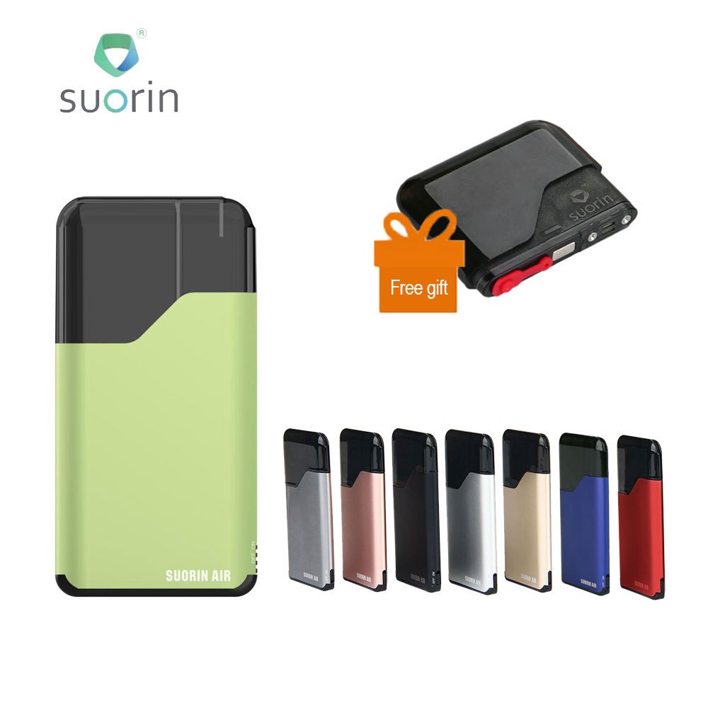 Originale Suorin Aria Starter Kit 400 mAh Built-In Batteria W/2 ml Cartuccia Formato Portatile e Spia di Alimentazione e-cig Vaping Kit