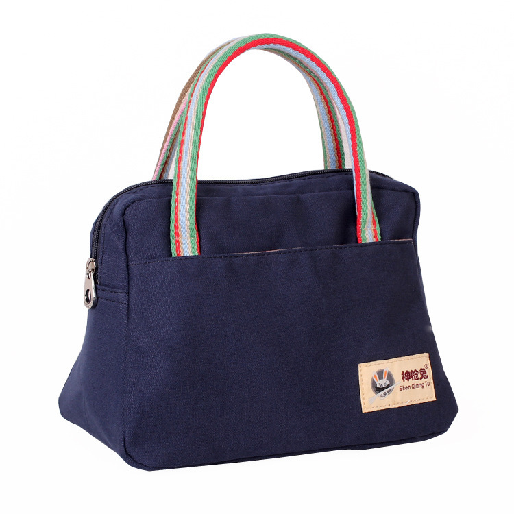 New Fashion Good Quality Canvas Lunch Bag Women S Portable Casual Handbag Beach Storage Mom Totes In Top Handle Bags From Luggage On