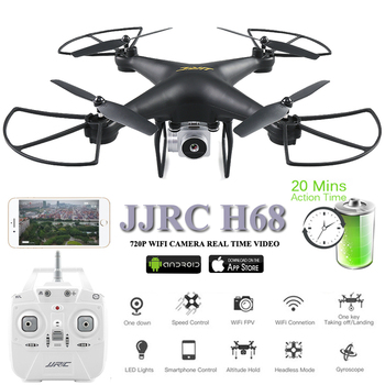 JJRC H68 Drones with Camera 20 Minustes Dron 2.4G Quadcopter WiFi FPV Quadrocopter Altitude Hold RC Helicopter Toys For Children