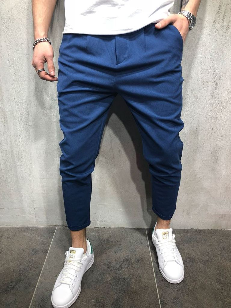 Brand Men Pants Hip Hop Harem Joggers Pants 2018 Male Trousers Mens Joggers Solid Shrink Ankle Pants Sweatpants M-4XL