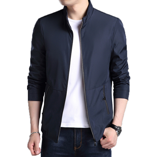 New 2018 Jacket Men Smart Casual Slim Mens Fashion Jacket Man Bomber