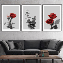цена на Posters And Prints Flowers Canvas Prints Nature Paintings Landscape Wall Art Canvas Painting Poster Rose Plant Picture Unframed