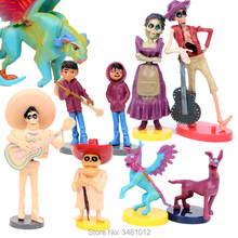 9pcs set Movie Coco Pixar Miguel Riveras PVC Action font b Figures b font Ernesto de