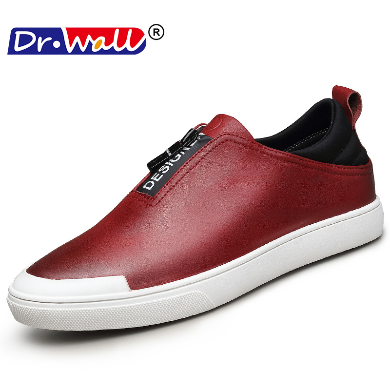 Genuine Leather Shoes Men Brand Footwear Non-slip Thick Sole Fashion - Men's Shoes - Photo 1