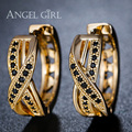 Angel Girl Hoop Earrings Round Loop with High Quality Wedding Gift Fashion jewelry streamline women Ornaments earrings E42-60909