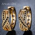 Angel girl pendientes de aro bucle ronda con alta calidad de regalo de boda joyería de moda aerodinámico mujeres adornos pendientes e42-60909