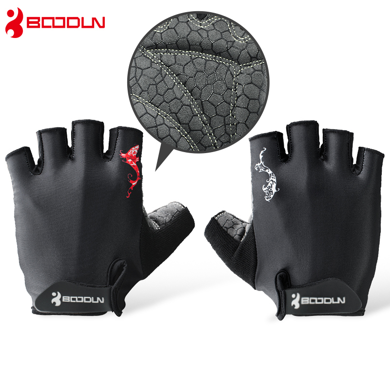Boodun Weight Lifting Men Gym Sports Gloves Training Fitness Women Dumbbell Half Finger Bodybuilding Workout Gloves xinluying body building fitness gloves half finger women men wearable weightlifting gloves gym training bike cycling pink xs s